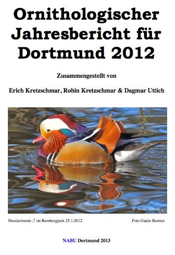 Ornithologischer_Jahresbericht_2012_Dortmund, Cover